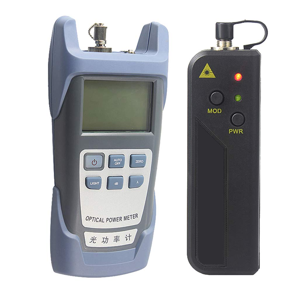 SM SunniMix A Set AUA-9-70dBm~+10dBm 850~1625nm Optical Power Meter Tester FC SC Handheld Optical Power Meter + 30mW Visual Fault Locator Pen
