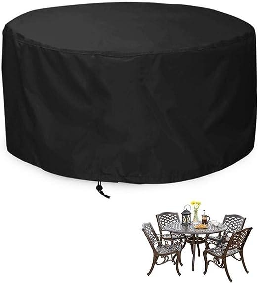 NINGWXQ Jardín Funda Muebles Cubiertas for Muebles de Patio. Tela Oxford Impermeable a Prueba de Polvo Proteccion Solar Redondo Conjunto de Muebles de jardín, Varios tamaños, 2 Colores: Amazon.es: Hogar