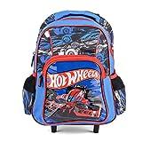 Hot Wheels Trolley Bag Backpack Kids Hand Luggage Rucksack With Wheels