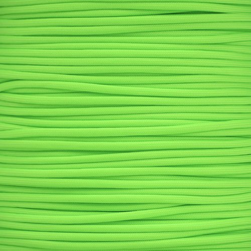Paracord Planet 550 Cord Type III 7 Strand Paracord 250 Foot Spool - Lime Green
