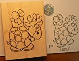 Christmas Turtle moose, wannabe rubber stamp WM P14