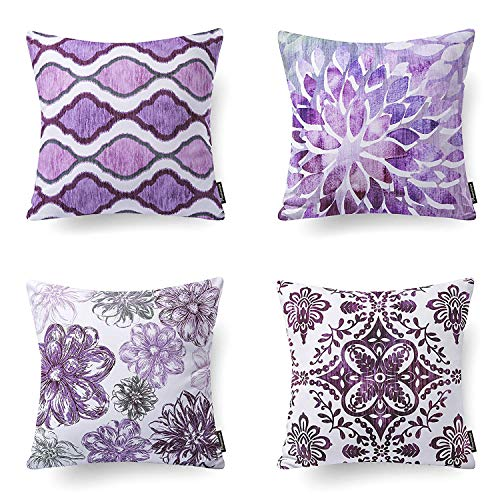 Phantoscope Dark Purple Throw Pillow Case Cushion Cover 18