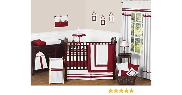 Amazon Com Sweet Jojo Designs White And Red Modern Hotel Unisex