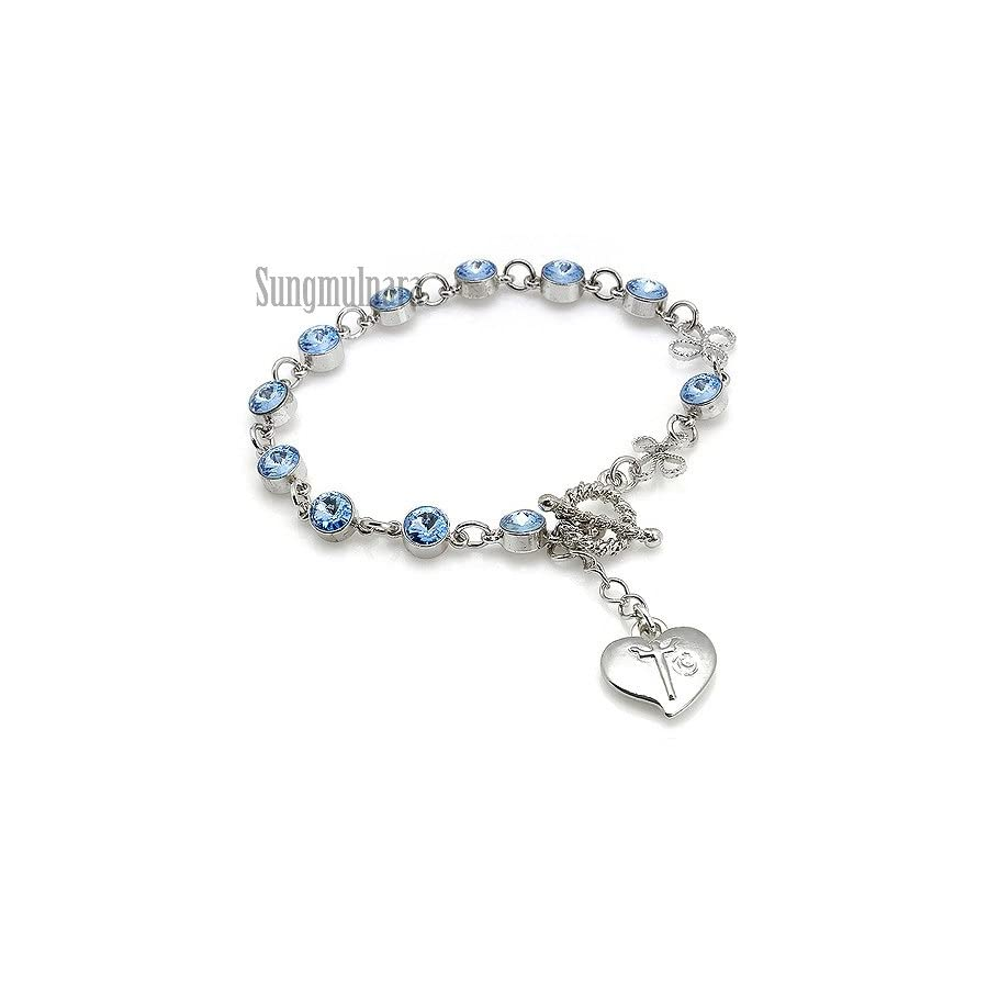 6mm Swarovski Bead Rosary Bracelet
