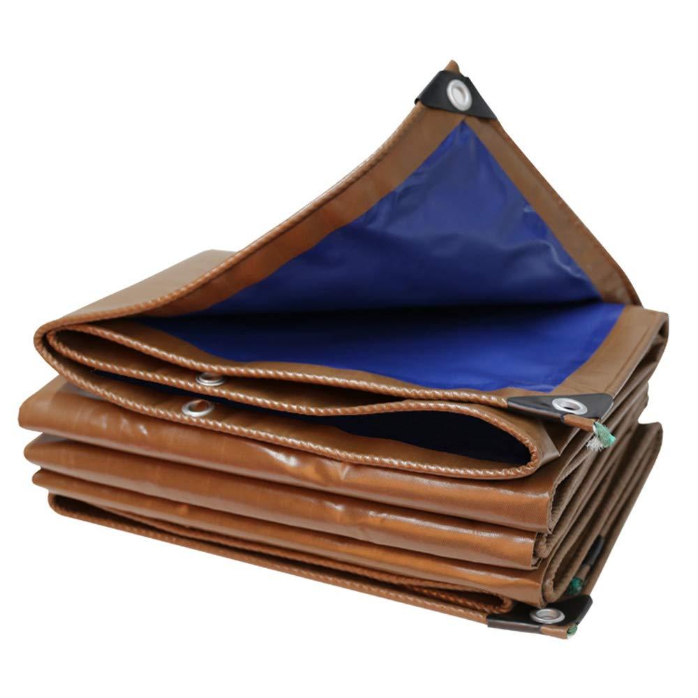 防水シート、厚い屋外の耐火布、ブルーコーヒーの防雨布、防塵遮光日焼け止めキャンバス(15サイズ)  4 × 10m