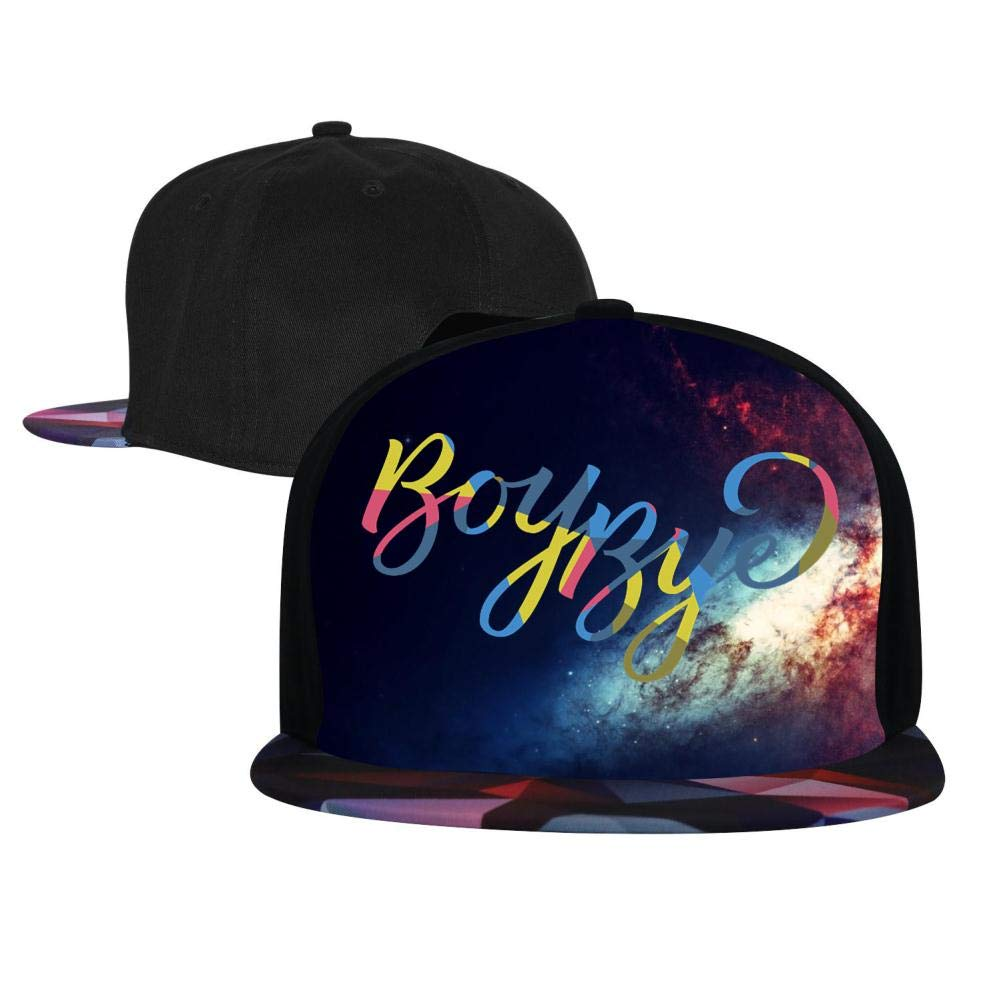 Bye Mens and Womens Trucker Hats EUYK77 Boy Adjustable Hip Hop Flat-Mouthed Baseball Caps