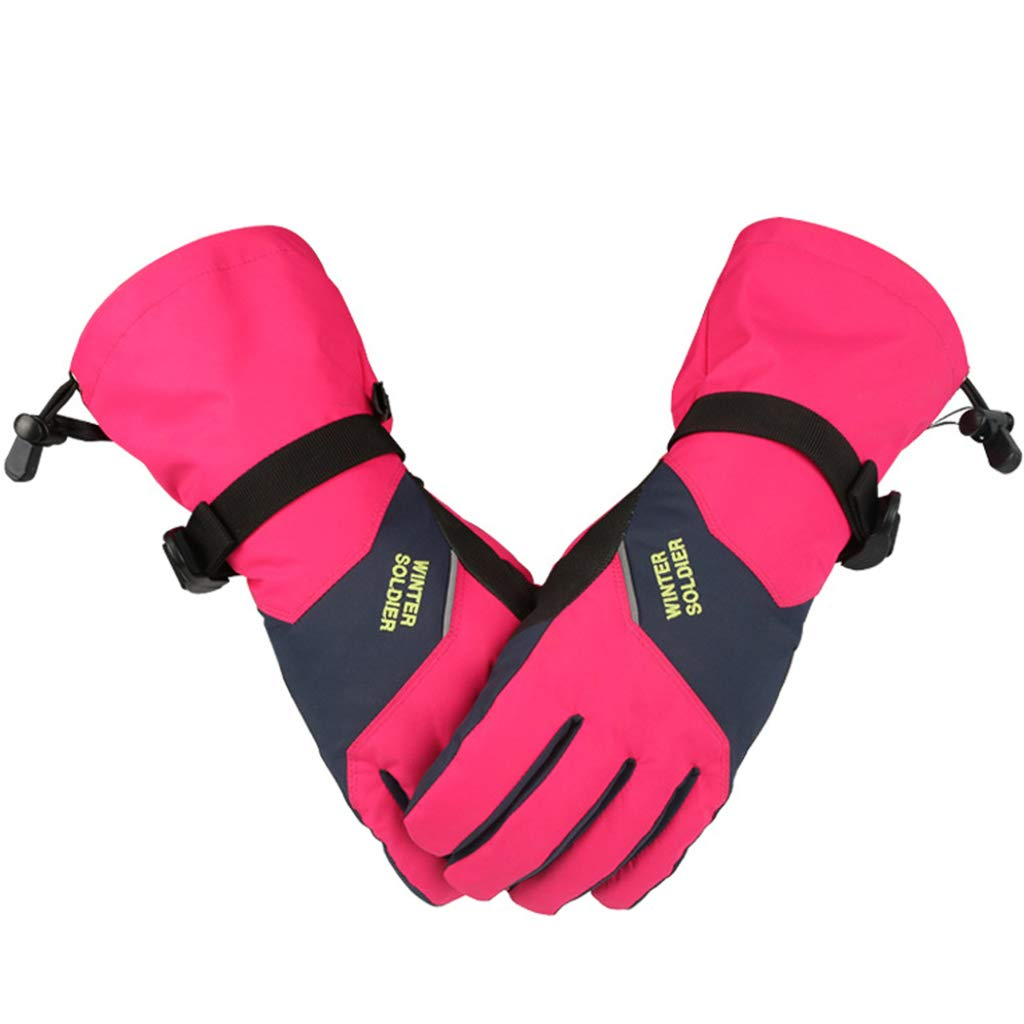 Women Ski Glove Waterproof Touchscreen Function Outdoor Warm Windproof Anti-Slip  Ltd