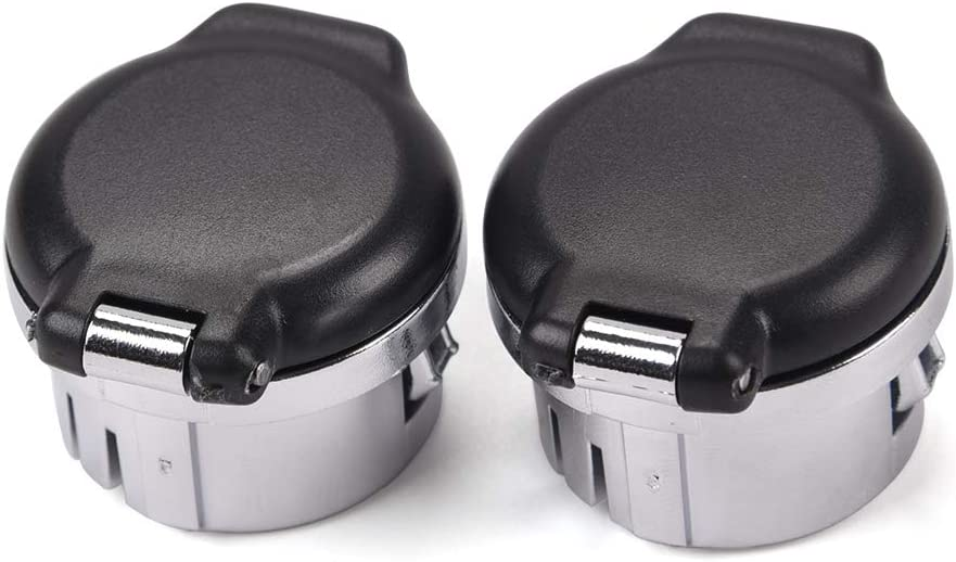 G-PLUS 2PCS for 2007-2013 Chevrolet Silverado Avalanche Suburban Tahoe GMC Sierra Yukon Cadillac CTS Premium 12v Power Outlet Plug Covers Cap Dash Retainers