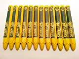 Strait-line Lumber Crayons 4-1/2 Inch (Yellow 20-count)