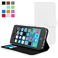 iPhone 5 / 5s Case Snugg® - Leather Wallet Case with Lifetime Guarantee (White) for Apple iPhone 5 / 5s