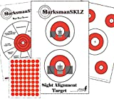 Training Shooting Targets- 10 Diagnostic - 10 Sight Alignment - 10 Bulls Eye Targets || Pack of 30 Pistol Practice Paper Target | For Men And Women | Shooting Accessories | Great Christmas Gift