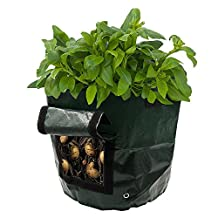 Potato Grow Bags, Frideko 2 Pack 7 Gallon Garden Grow Bags with Flap and Handles Aeration Fabric Pots Heavy Duty for Potato, Carrot, Tomato, & Onion