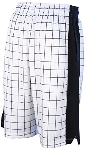 Jordan Mens Nike Dri-Fit AJ IV Stencil Shorts-White/Black-Large