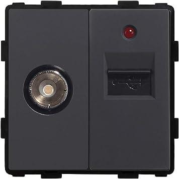 BSEED DIY 1/2 TV con 1A de carga USB Toma de corriente Antena ...