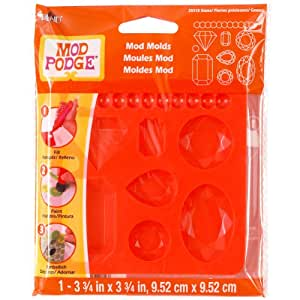 Mod Podge Mod Mold (3-3/4 by 3-3/4-Inch), 25118 Gems