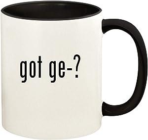 got ge-? - 11oz Ceramic Colored Handle and Inside Coffee Mug Cup, Black