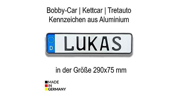 Bobbycar Kettcar - Letrero para coche con nombre y matrícula ...