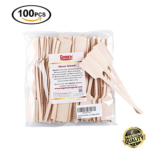 Gmark Green Product 6.25 Inch Wood Kayak Paddle Shape Sticks, Wood Stirrer for Honey, Eco-Friendly 100/Bag GM1035 (Wood Stirrers)