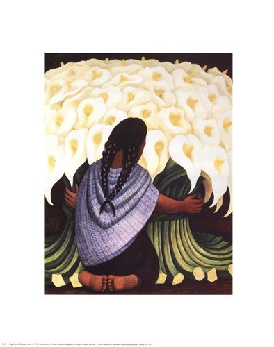 The Flower Seller by Diego Rivera - 16x20 Inches - Art Print Poster