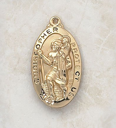 Gold St. Christopher Medal by Christian Brands by Christian Brands