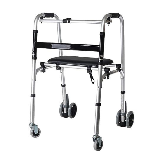 Andador con ruedas plegable para trabajo pesado bariátrico con 4 ...