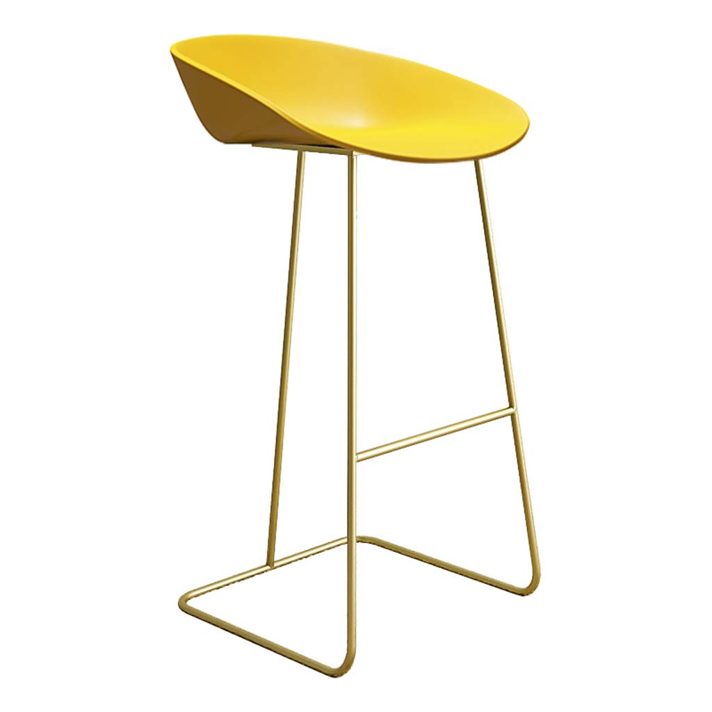 Yellow-gold 75cm DingHome-ca Barstool - Wrought Iron Simple Fashion Breakfast High Chair Creative Bar Stool gold Kitchen Bar Counter