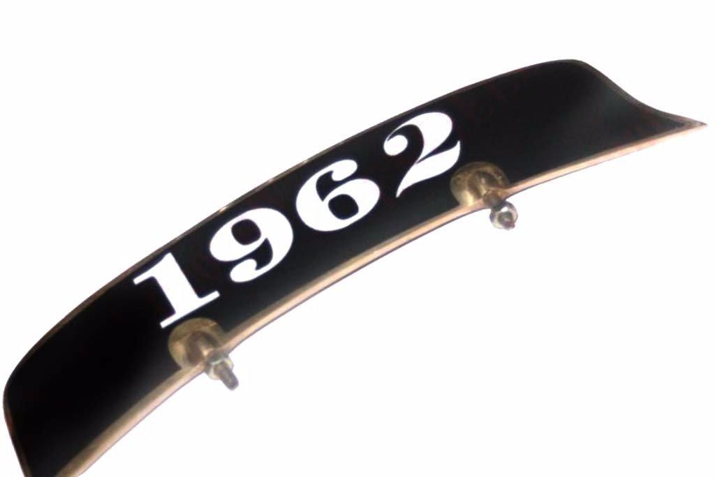 Enfield de style vintage en laiton 1962/Sticker Blanc Fond Noir Plaque avant Garde-boue