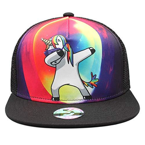 - Odelia Walter Unicorns Flat Bill Snapbacks Mesh Baseball Caps Trucker Hat