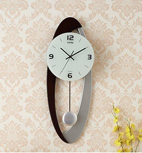 JCRNJSB® リビングルーム時計現代ヨーロッパスタイルクリエイティブウォールクロックアート振り子時計簡単なパーソナリティミュート時計 壁掛けサスペンション クロックウォールクロック クォーツ時計 (色 : #2) B07D3K8BKK #2 #2