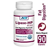 Lipase-HP Plus – 90 Vegetarian Capsules – Fat Digestion Support – Keto Diet Digestive Enzyme Formula – AST Enzymes