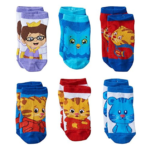 (Daniel Tigers Toddler Boy Socks 6 Pair Low Cut Boys Socks Fits 2T-4T)