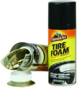 Tire Foam Diversion Can Stash Safe, Hidden Compartment Container for Hiding Money, Jewelry, and Other Valuables (Travel Size)