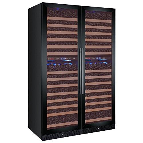Allavino FlexCount Classic 344 Bottle Multi Zone Wine Cellar Refrigerator – Black French Doors