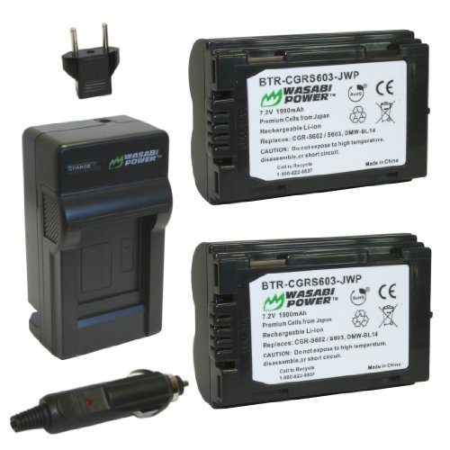 Wasabi Power Battery (2-Pack) and Charger for Leica BP-DC1 BP-DC3 and Leica DIGILUX 1 DIGILUX 2 DIGILUX 3の商品画像