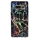Velvet Caviar Holographic Black Marble Galaxy Note 8 Case - Cute Protective Phone Cases for Women Girls [Drop Test Certified] Cover Compatible with Samsung Galaxy Note 8