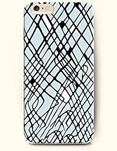 Black Scattered Overlapping Lines - Geometric Pattern - Phone Cover for Apple iPhone 6 ( 4.7 inches) - OOFIT Authentic iPhone Case