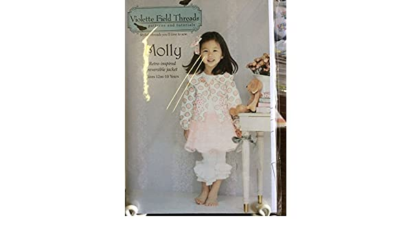 New Violette Field Threads Sewing Patterns-Molly Retro Reversible Jacket/&sleeves