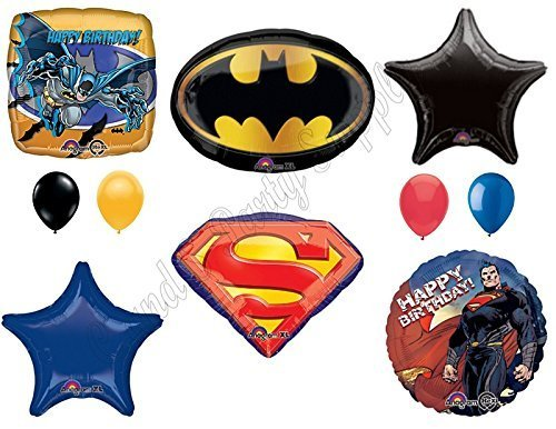 BATMAN VS. SUPERMAN: Dawn Of Justice Birthday Party Balloons Decoration Supplies Movie Superhero