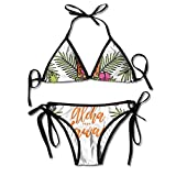 Most Fashion Maker Women Cool Mask Casual Floral Printing Printing Summer Sexy Two Pieces Beach Bathing Suit