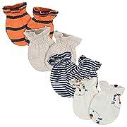 Gerber Baby Boys 4-Pack Mittens, Tiger, 0-3 Months