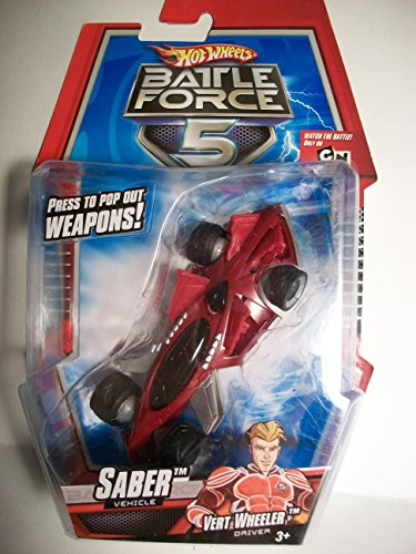 Hot Wheels SABER Battle Force 5 Car