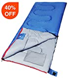 sleeping bag - Outdoor Sleeping Bag with Pillow for Camping by REDCAMP,3-season Comfort 59°F/15°C,Blue 2lbs Filling with Compression Sack(75