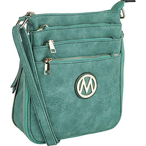 Compartment Teal Expandable Salome Crossbody Multi Collection K Mia Farrow Blue by MKF xwW4CSUqc