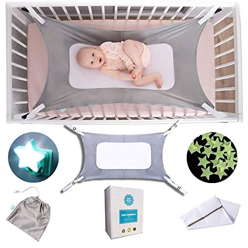 Premium Baby Hammock for Crib | Super Bundle | Lullaby Hammock,Adjustable for All Crib Sizes | Triple Layer Mesh for Natural Infant Womb-Like Sleep,Crib Hammock for Newborn,Baby Shower, Womb Hammock