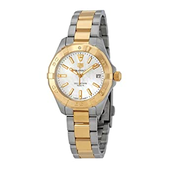 Tag Heuer Aquaracer Mother Of Pearl Dial Ladies Two Tone Watch Wbd1320 Bb0320
