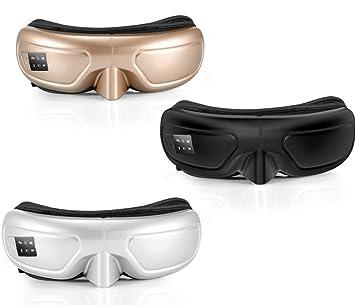 SSCJ Masajeador De Ojos Plegable Compresor De Aire Caliente Medidor De Ojo Inalámbrico Bluetooth Música Instrumento
