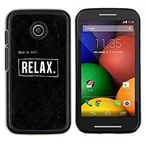 Stuss Case / Funda Carcasa protectora - Citar Texto Negro motivación - Motorola Moto E ( 1st Generation )