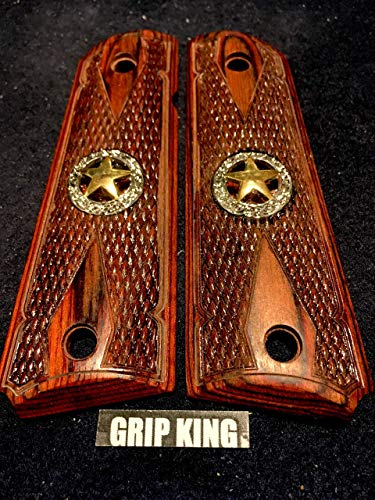 1911 GRIPS, CLASSIC TEXAS,BURLED ROSE WOOD,FITS COLT,KIMBER,RUGER,TAURUS,SPRINGFIELD,REMINGTON,SIG,PARA,WILSON,ITHACA,S & W, ACE,R.I., CLONES,SALE $43.73 ()