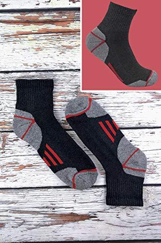 Sock Snob Chaussettes de travail à la cheville en coton rembourré ultime pour hommes pour bottes à bout en acier 4