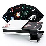 Waterproof Poker Cards Black PVC Playing Cards Set Professional Poker + Aluminum Gift Box Top Qualit